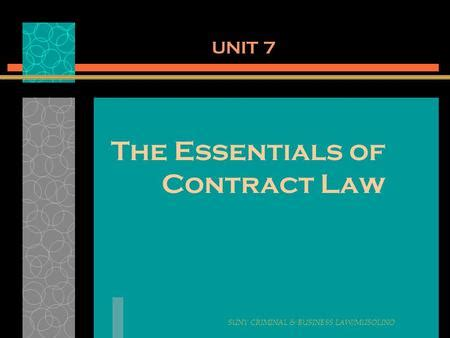 Contract law essay uk